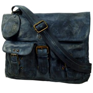 Rugged hide skuldertaske crossbody