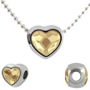 Swarovski HeartBeat Halssmykke i Golden Shadow