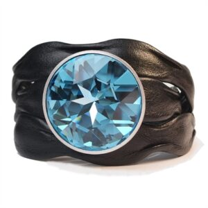 Waves Swarovski Black Aquamarine
