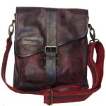 skuldertaske crossbody i Bordeaux
